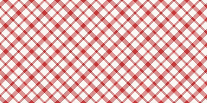 Red white plaid traditional fashion pattern