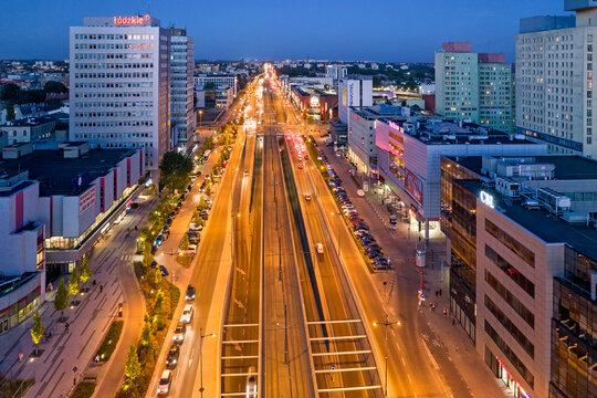 Miasto Łódź, Polska.