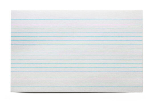 Blank Index Card Isolated on White