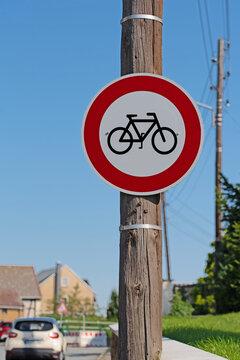 Verkehrsschild, Durchfahrt für Radfahrer verboten