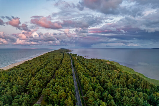 Hel Peninsula, Poland. 35-km-long sandbar peninsula in northern Poland.