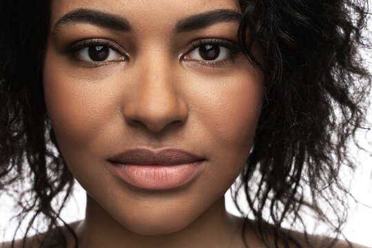 Young beautiful black woman with smooth skin