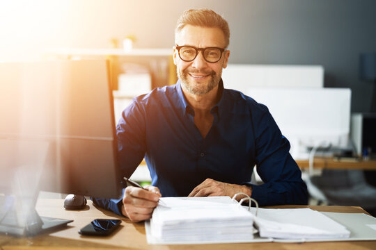 Tax Accountant Advisor Man Doing Accounting