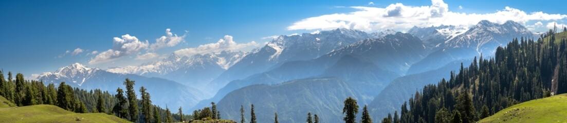 Fototapeta panoramic view from siri paye makra peak obraz