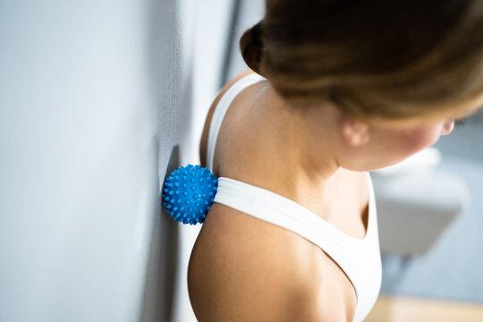 Back Trigger Point Massage Using Spiky Ball