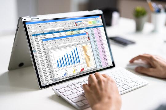 Spreadsheet Data Business Work