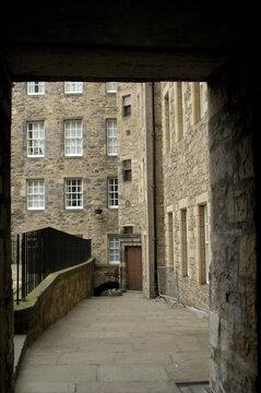 Milnes Court and narrow close in Edinburgh
