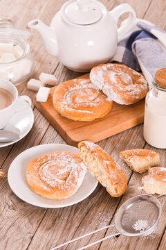 Sweet pastry swirls.