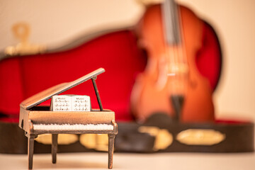 グランドピアノとバイオリン 【室内スタジオ撮影】