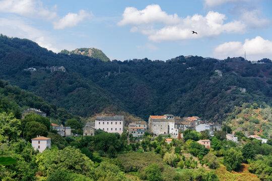 San Nicolao village in Corsica mountain