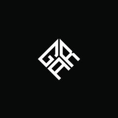 Obraz GRA letter logo design on black background. GRA creative initials letter logo concept. GRA letter design.  - fototapety do salonu