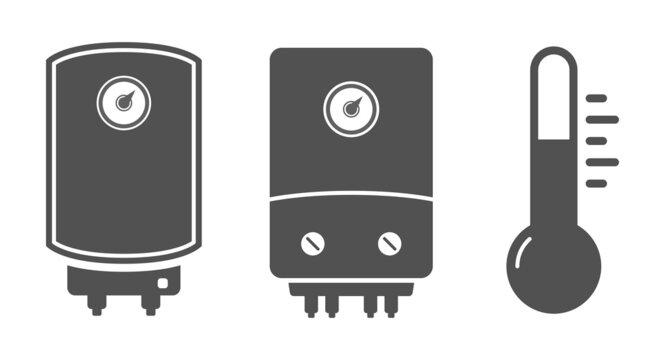 boiler tank water heater icon