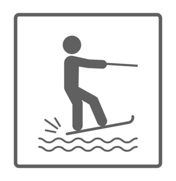 water ski sport with person