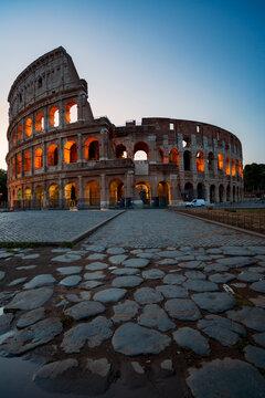 The Colloseo at night, Rome the city of the Roman Empire