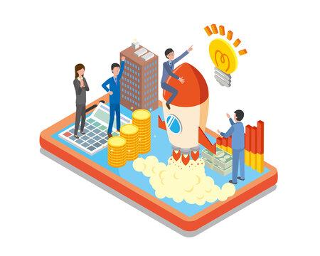 ビジネスのスタートアップのイメージ