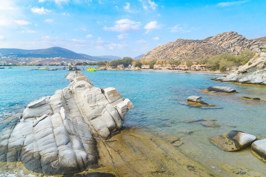 Romantic beach at greek island