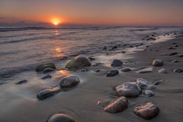 wschód słońca nad Morzem Bałtyckim