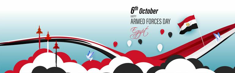 vector illustration for Egypt Armed force day-6october