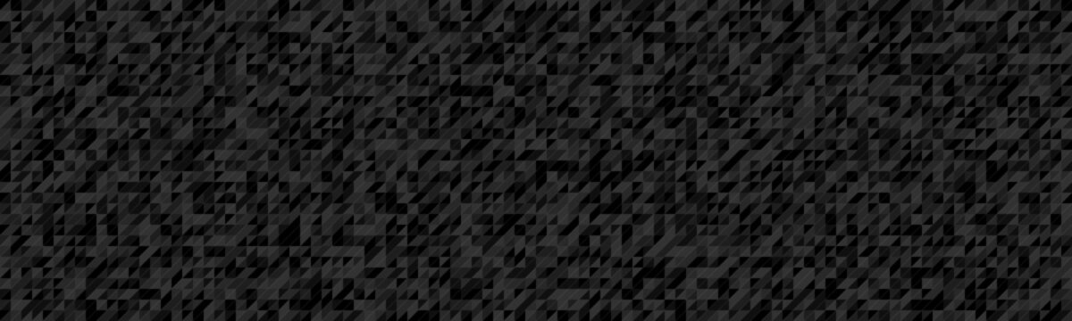 Wide gray vector background composed of triangles