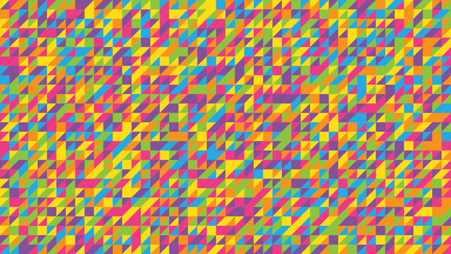 Vector background composed of triangles in rainbow colors