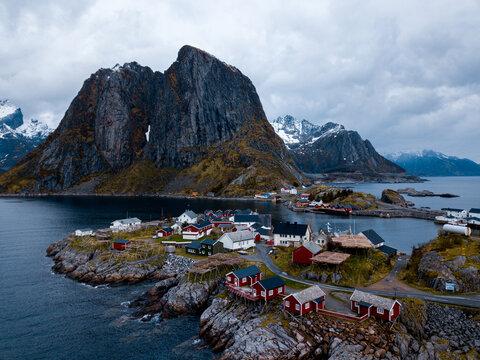 Lofoten islands, Norway, from Reinebringen ridge