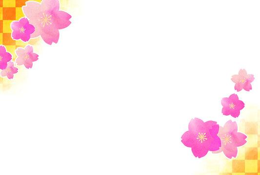 桜のポストカード(年賀状)