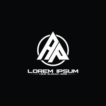 Letter AP triangle logo design vector