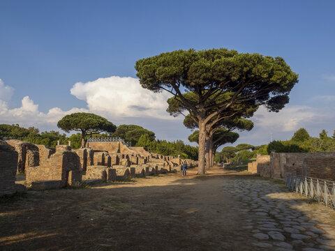 old ancient ostia archeological ruins
