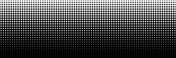 horizontal white dot circle on black for pattern and background