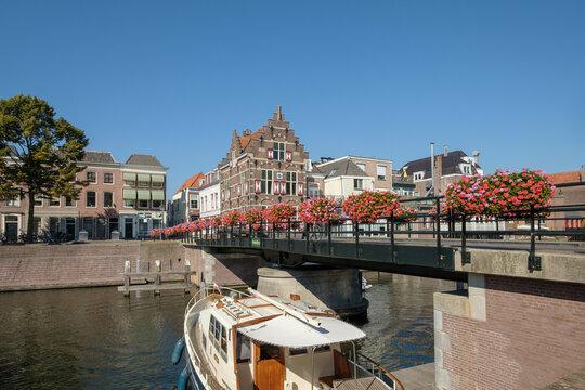 The Peter Bridge in Gorinchem, (Gorkum), South Holland Province, The Netherlands
