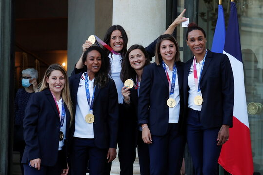 A ceremony in honor of the 187 Olympic and Paralympic medalists at the Tokyo 2020 Games, in Paris