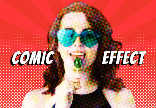 Woman with Comic Effect Popart