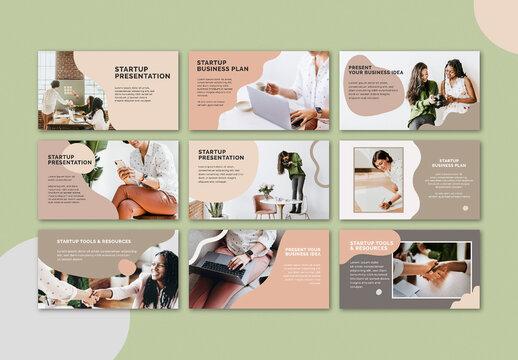 Editable Startup Business Presentation Layout Set