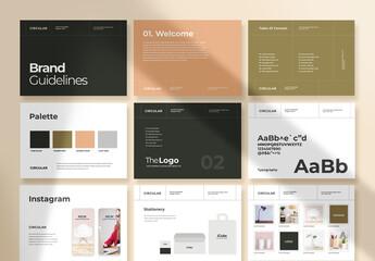 Fototapeta Brand Guidelines Identity Brochure obraz