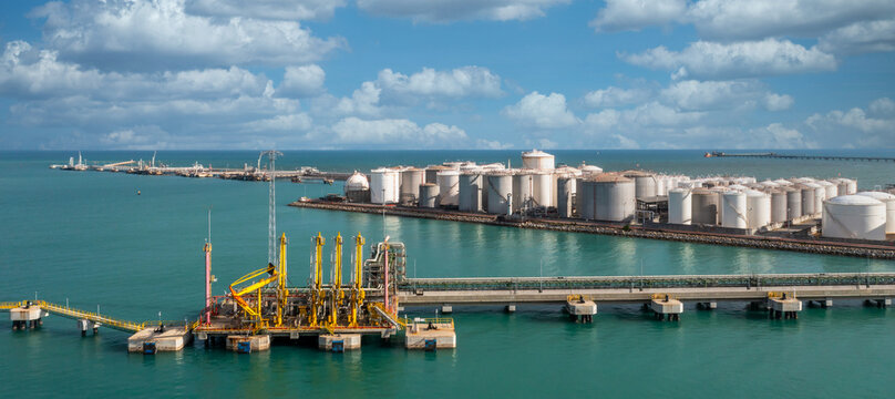 Oil terminal and tank farm for bulk petroleum and gasoline storage, Crude oil storage terminal, pipeline operations, distributes petroleum products.