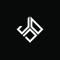 Fototapeta JOD letter logo design on white background. JOD creative initials letter logo concept. JOD letter design.  obraz