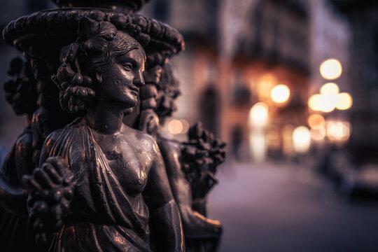 Quattro Canti, die Vier Ecken von Palermo in Sizilien, Italien in Europa