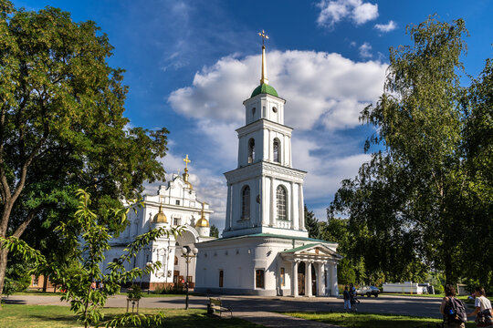 The Assumption Cathedral and his bell tower in Poltava