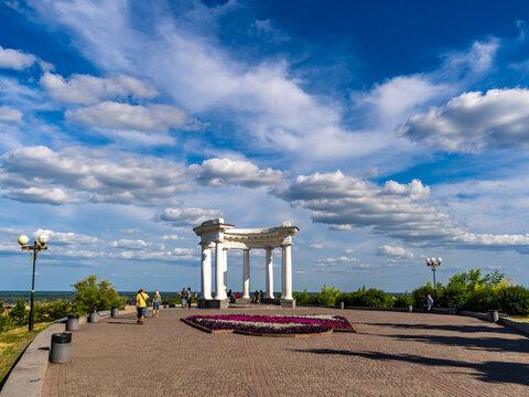 White rotunda or Rotunda of friendship among peoples in Poltava city