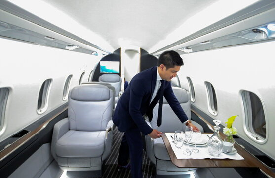 Bombardier unveils a mockup of its new Challenger 3500 business jet in Montreal