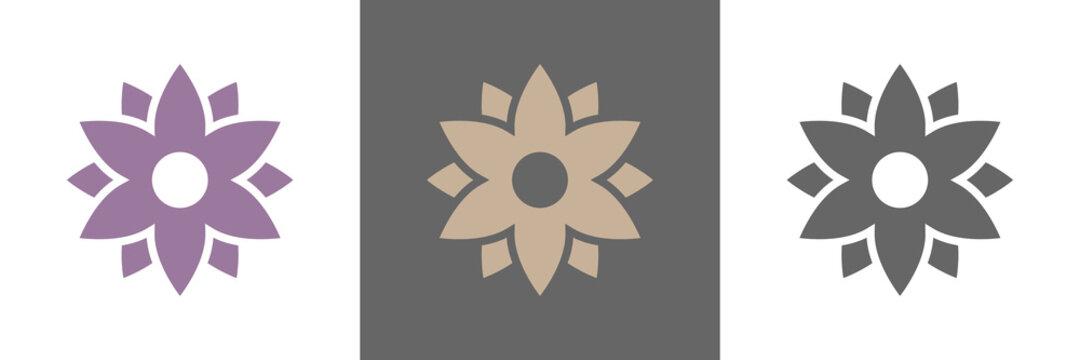 Blumen Blüte Vektor Logos naturfarben
