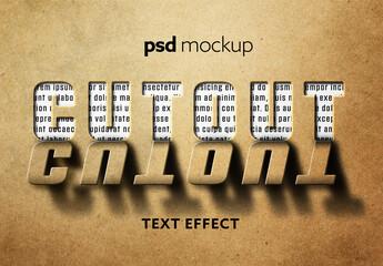 Fototapeta Cutout Text Effect Mockup obraz