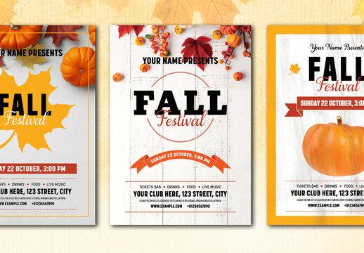 3 Fall Festival Flyer Layouts