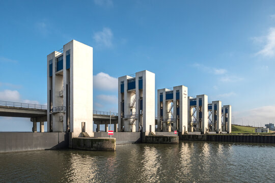 Houtrib locks at Lelystad, Flevoland Province, The Netherlands