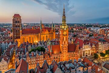 Fototapeta Old town of Gdańsk, Poland. obraz