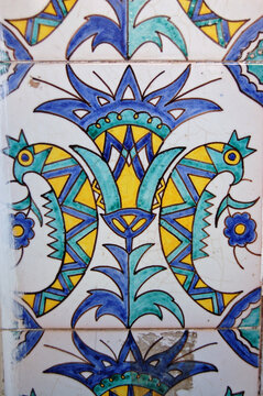Strange bird tiles, Tripoli, Libya