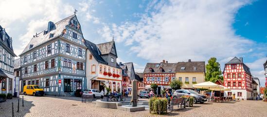 Fototapeta Marktplatz, Bad Camberg, Hessen, Deutschland obraz