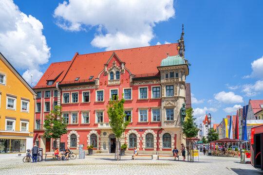 Rathaus, Mindelheim, Bayern, Deutschland