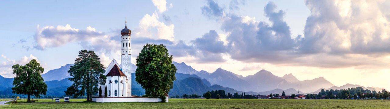 Sankt Coloman Kirche, Schwangau, Allgäuer Alpen, Deutschland