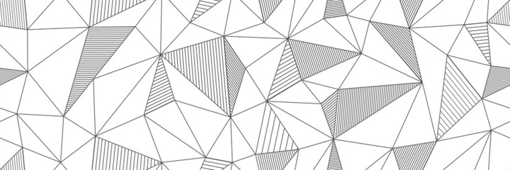 seamless linear pattern forms triangles with hatching elements. Vector illustrations for textures, textiles, simple backgrounds, covers and banners